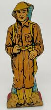 Infantry Private #5 Vintage Marx Toy Lithograph Tin Litho Army Soldier Figure