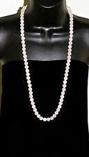 """LUCORAL Vintage (80) ROSE QUARTZ 10mm Beads Rope Necklace 32.5"""""""