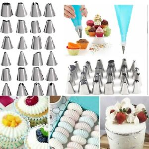 24 PIECES ICING PIPING NOZZLE TOOL SET CAKE PASTRY CUPCAKE SUGARCRAFT DECORATING