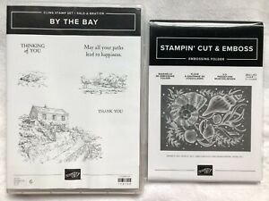 Stampin Up! By The Bay-cling stamp set & Seashells 3D embossing folder~NEW