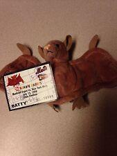 TY Beanie Babies - BATTY 1996 Retired includes Shea Stadium Mets Souvenir Card