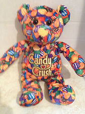 "Candy Crush Saga 12"" Plush Printed Bear: Orange Patern"