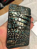 Brahmin Agate Melbourne Embossed Leather Slim Card Case Holder Wallet