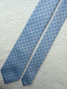 BLUE WHITE DOT 3 inch polyester necktie TIE by JEFF BANKS STVDIO