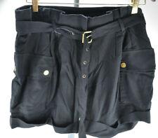 Michael Kors women black belt pockets shorts sz 8