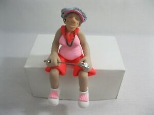New! Female Golfer Golf Clay Shelf Sitter Figure Diana Manning Limited Edition