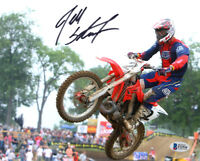 JEFF STANTON SIGNED AUTOGRAPHED 8x10 PHOTO MOTOCROSS LEGEND RARE BECKETT BAS
