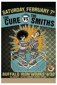 The Cure  vs. The Smiths at Buffalo Iron Works Concert Poster  12x18