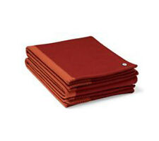 NEW Authentic HERMES Avoine Home H logo Blanket Throws Red Sellier Cashmere