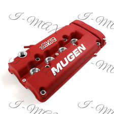 Red MUGEN Style Engine Valve Cover For 1999 - 2000 Honda CIVIC SI Dohc VTEC