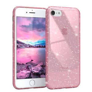 For Apple IPHONE 8/7 / Se 2020 Glitter cover Protective TPU Case Pink