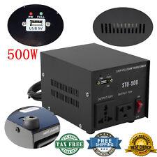 500 Watt 110 220 Volt Voltage USB Converter Up Down Power Transformer 500W MG