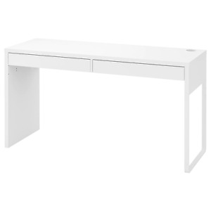 Laptop Table Top Office Desk, White, Table, 142 X 50 CM