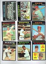 520 Diff 1971 Topps Baseball Card Lot 18 HOF Great Starter Lot