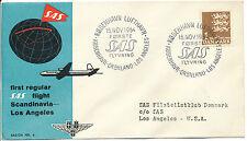 "2415 DÄNEMARK 1954 selt. Erstflug der SAS ""Kopenhagen - Grönland - Los Angeles"""