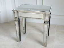 Stunning Silver Venetian Glass Mirrored Side Table / Dressing table stool 3697