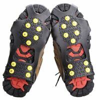 Snow Ice Anti-Slip Silicone Shoes Cover Grippers Spikes Grips Climbing Crampons
