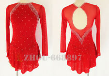 Red Competition Ice Figure Skating Dress