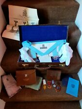 More details for vintage joblot of masonic regalia,jewels in leather case..