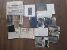 Militärpaß, Soldbuch, Urkunden, Eisernes Kreuz u. Verwundetenabzeichen IR 92