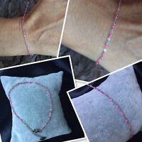 Bracelet Réglable Argent Acier  Et Perles Rose Flashy Top'! New Ref Gigi Eugène
