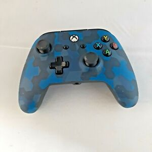 Power A 1508488-01 XBox One Controller Blue Camo No Wire Controller ONLY Tested