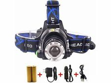 6000Lm LED Headlight Torch  Cree T6 Running Rechargeable Headlamp Head Light Lam