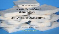 JAPANESE ORGANIC COTTON {40 PADS} Natural Unbleached Premium Muji Vape Wick USA