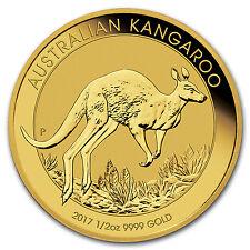 2017 Australia 1/2 oz Gold Kangaroo BU - SKU #102644