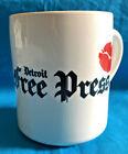"Vintage Detroit Free Press Coffee Mug  - ""Love in the Morning"",w/ Lips - USA"