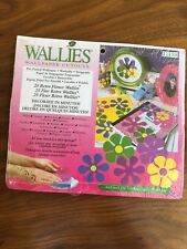 Wallies Wallpaper Cutouts 25 Retro Flowers Pre-Pasted Decal Art Crafts Decoupage