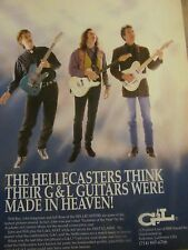 The Hellecasters, G & L Guitars, Full Page Promotional Print Ad