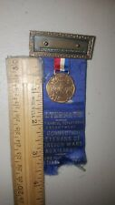1937 MEDAL RIBBON BADGE CONNECTICUT VETERANS OF FOREIGN WASR AUXILIARY WATERBURY