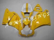 Yellow White ABS Injection Mold Bodywork Fairing Kit for Ducati 748/996 96-02