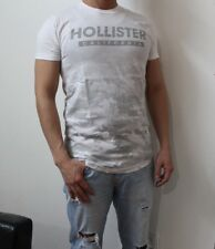 NWT HOLLISTER Men Printed And Applique Logo Graphic T Shirt Tee By Abercrombi​e
