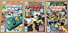 POWER MAN #40, 41, 42 (1977, Marvel) LUKE CAGE Mid to High Grades