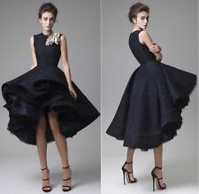 Short Front Long Back Black Lace Prom Dress Cocktail Dress Krikor Jabotian
