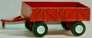 """VINTAGE TOOTSIETOY RED 3.5"""" FARM TRAILER MADE IN CHINA 1985"""
