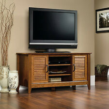 "Milled Cherry Panel TV Stand Entertainment Console for TVs up to 47"" SHIPS FREE"