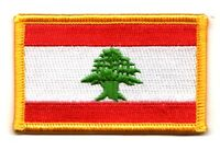 LEBANON LEBANESE FLAG PATCHES COUNTRY PATCH BADGE IRON ON NEW EMBROIDERED