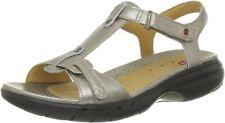 BNIB CLARKS LADIES UNSTRUCTURED Sandals 'UN SWISH'  METALLIC LEATHER SIZE UK 9 G