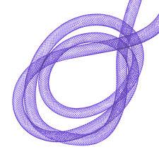 Malla de Nylon Hueco Joyería tubería para abalorios & Crafts 8mm púrpura 3 metros (F65)