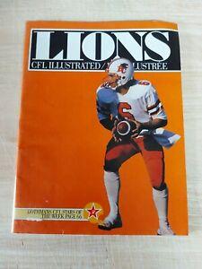 Vintage CFL Illustrated Football Magazine Vol 13 No 1 BC Lions Used