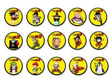 Lot Pack Badge Button Ø25mm Dragon Ball Z Manga DBZ Son Goku