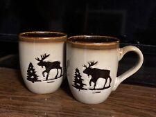 Woodland Collection Moose Decorative Mug Dishwasher And Microwave Safe