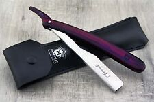 Half Blade Cut Throat Style Razor Maroon With Leather Pouch & Replaceable Blades