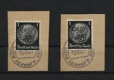 Russland (Ljady) 1 a und b je auf Briefstück falsch (B06524)