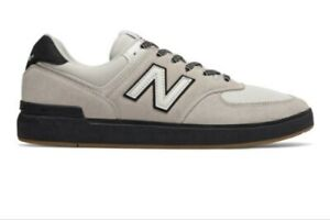 New Balance Men's White grey/ gum All Coasts AM574 Skate Shoes Size 6.5