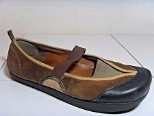 EARTH 9 ANTI GRAVITY  LADIES BROWN  COMFORT  SLIP ON MARY JANE FLAT CASUAL SHOES