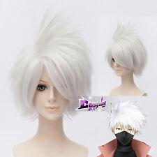 Hatake Kakashi SOUL EATER 12'' Silver White Anime Cosplay Wig  Heat Resistant